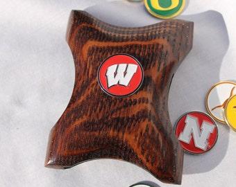 Wisconsin Wallet Money Clip, Badgers wallet, Wisconsin Money clip, Badgers money clip, cool money clip, wood wallet