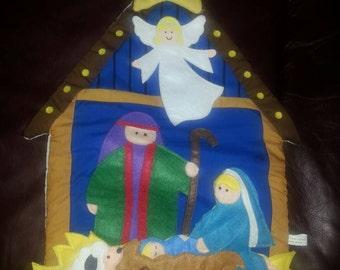 Soft Nativity Scene Wall Hanging