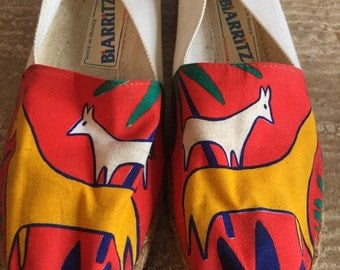 SALE! Bright Animal Print Cotton Espadrilles