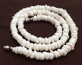 Genuine white puka shell necklace choker