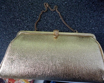1960's gold clutch purse