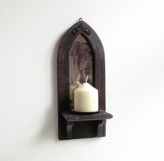 gothic mirror candle holder shelf wall candle holder wall. Black Bedroom Furniture Sets. Home Design Ideas