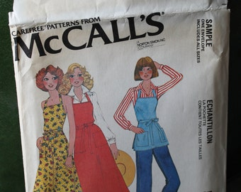 1978 Sample McCall's Back-Wrap Apron All Sizes