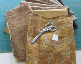 Upholstery Textured Lion Panel Set - Upholstery Sample Lot 05