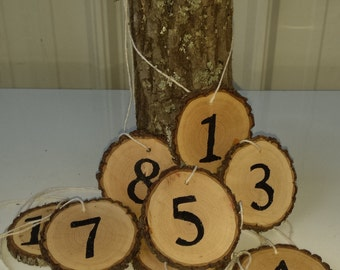 10 Rustic Table Numbers ~ Tree Slice table number ~ Wedding Table Number ~ Rustic Wedding table number ~ Party Decoration