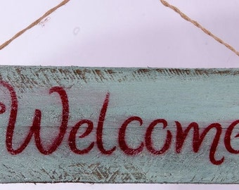 Rustic Antiqued welcome decor