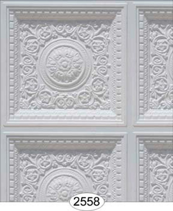 Dollhouse Ceiling Wallpaper: Dollhouse Ceiling Tile Wallpaper Panel Paper By Bestroomboxes