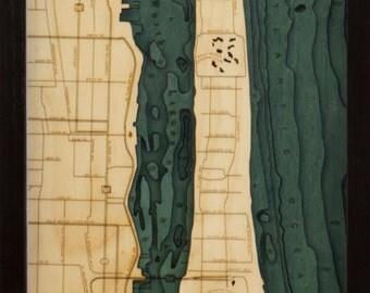 Wood Chart of Palm Beach, Florida,  13.5x43 - Narrow