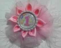 First Birthday hair bow,birthday headband ,first birthday hair accessories,