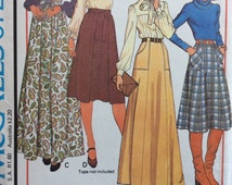 McCalls 5729 vintage 1970's misses skirts in two lengths sewing pattern size small waist 25 - 26.5  Uncut, factory folds