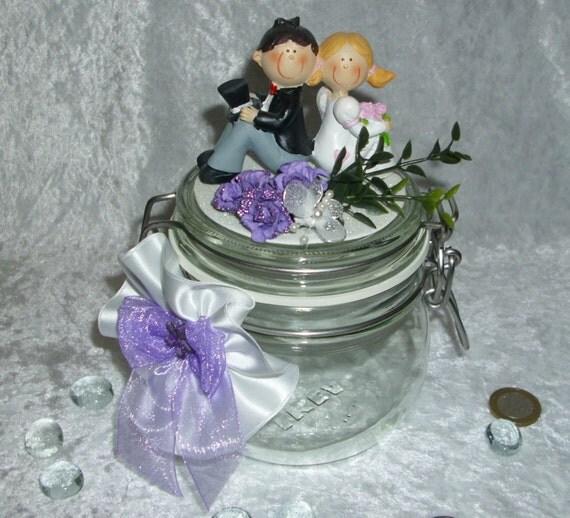 Geldgeschenk Glas Hochzeit Brautpaar Just Von