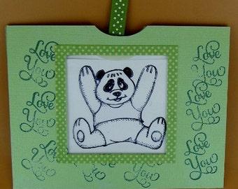 Magic Slider Card, Bear Slider Card, Interactive Card, Panda Bear Card, Kid's Card