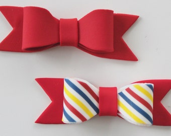 Gum Paste MINI BOWS - Primary Colors