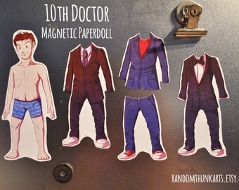 10th Doctor (Doctor Who) Magnetic Paper Doll