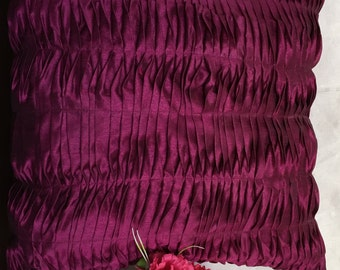 Wine color pleated pillow,wine decorative pillow,wine color pillow ,wine cushion,wine floor pillow,pleated pillow,16x16 wine pleated pillow