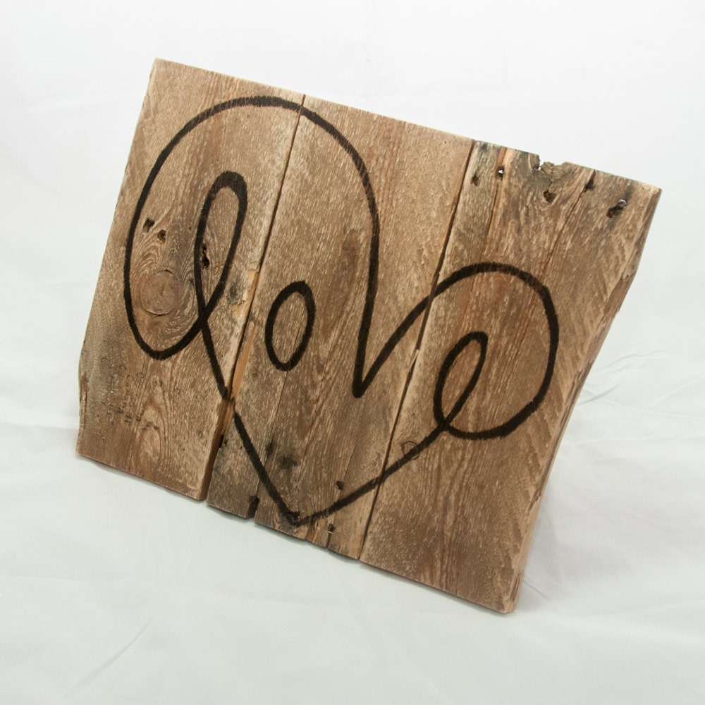 Love Decor Signs: Valentine's Day Gift Love Decor Love Sign Gift By