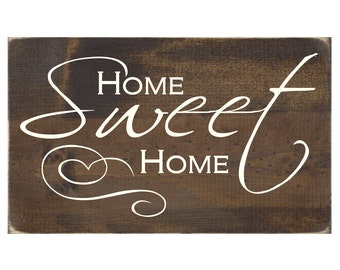 Rustic Wood Wall Decor Sign - Home Sweet Home (#1060)