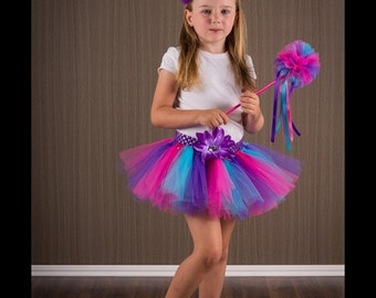 Pink purple & blue tutu