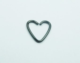 Black Heart Cartilage, Daith Earring 16G
