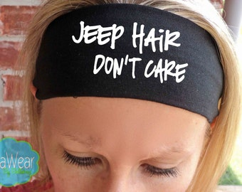 Jeep Hair Don't Care - Fitness Headbands - Workout - Running - Hair Accessories