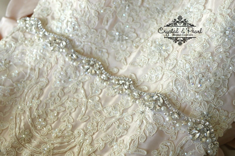 Best Seller 2017 Opal Thin Bridal Sash Skinny Belt