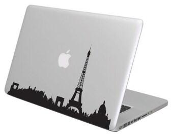Paris cityline MacBook Decal sticker. Choose your size. Laptop People Love apple ad commercial