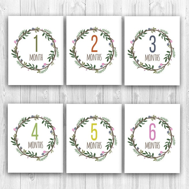 photo regarding Printable Baby Month Signs identify Every month Greetings: Child Milestone Thirty day period Playing cards Youngster