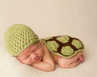 Newborn Turtle Outfit, Newborn Turtle Prop, Baby Turtle Outfit, New Mom Gift, Baby Shower Gift, Photography Prop, Christmas