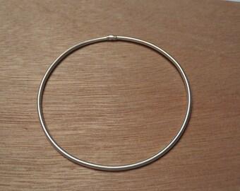 Round Sterling Silver Bracelet/ Bangle