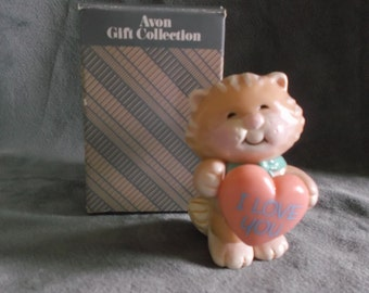 Vintage Avon The Greeting Gang Cat Figurine