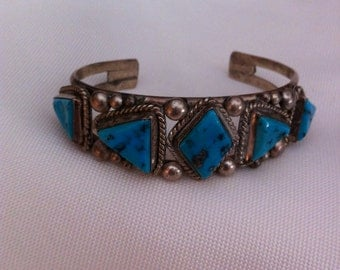JJ Toosie silver and tourquoise bracelet