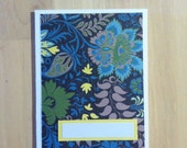Dark Blue Floral Greeting Card - Customizable - U.S. Shipping Cost Included!