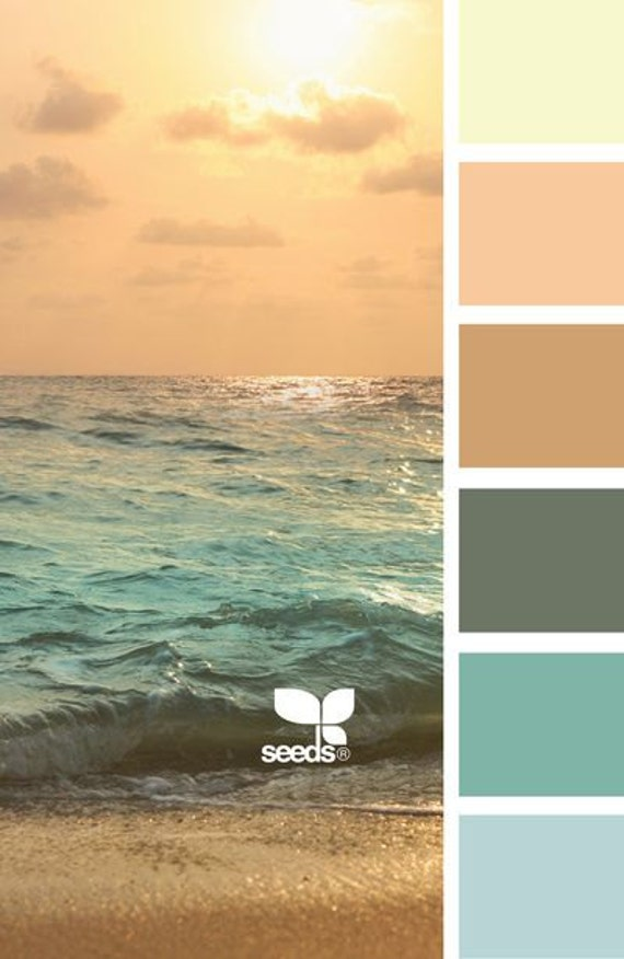 Ocean coral color collection for planner by oldfielddesigns for Ocean blue color combinations