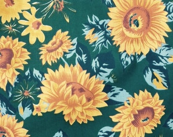 Sun flower Polycotton Fabric BTY