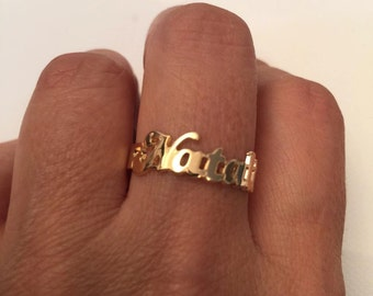 Name ring- Personalized name ring - Gold Ring Name - Initial Ring - Personalized name ring - Custom Name Ring - special unique gift