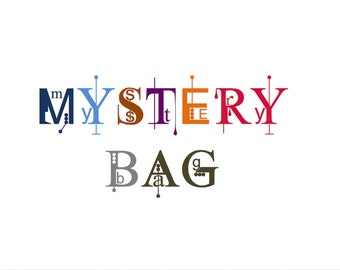 Mystery Bag of Buttons  - Mystery Pack - Craft Supply - Grab Bag - Surprise Bag - Red Handmade Buttons