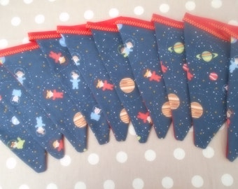 Bunting-Space bunting-Planets and spaceships-Childrens bunting-Kids bunting