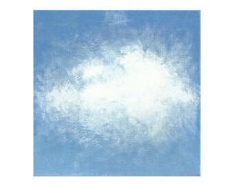 Free Shipping Cloud Art Print, 6x6 Inches Art Print, 8x8 Inches Art Print, Clouds Mini Art Print, Nature Art Print