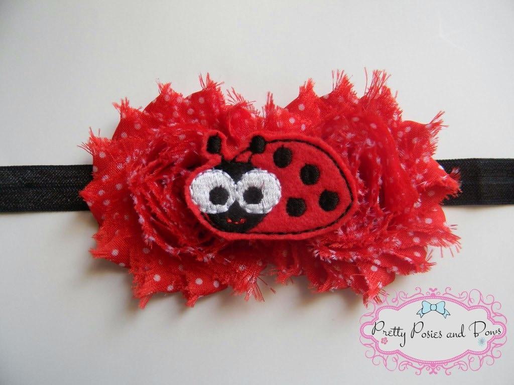 Knitting Ladybug Ladybird Headband : Ladybug headband lady bug spring red and
