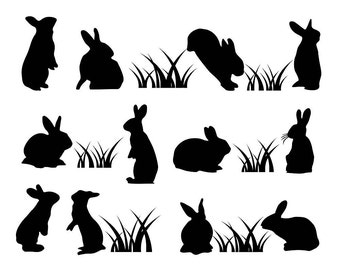 Easter Clipart , Black Easter Bunny Clipart Clip Art, Easter Egg Clip Art, Bunny Clipart, Spring Clipart, Easter Clip Art. Easter Egg