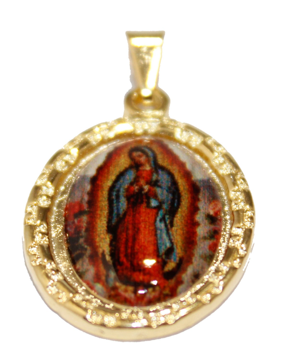 Virgin De Guadalupe Gold Necklace 91