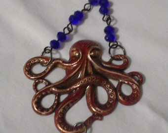 Angry Octopus Necklace  N 160