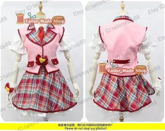 Aikatsu Hoshimiya Ichigo Cosplay Costume Pink