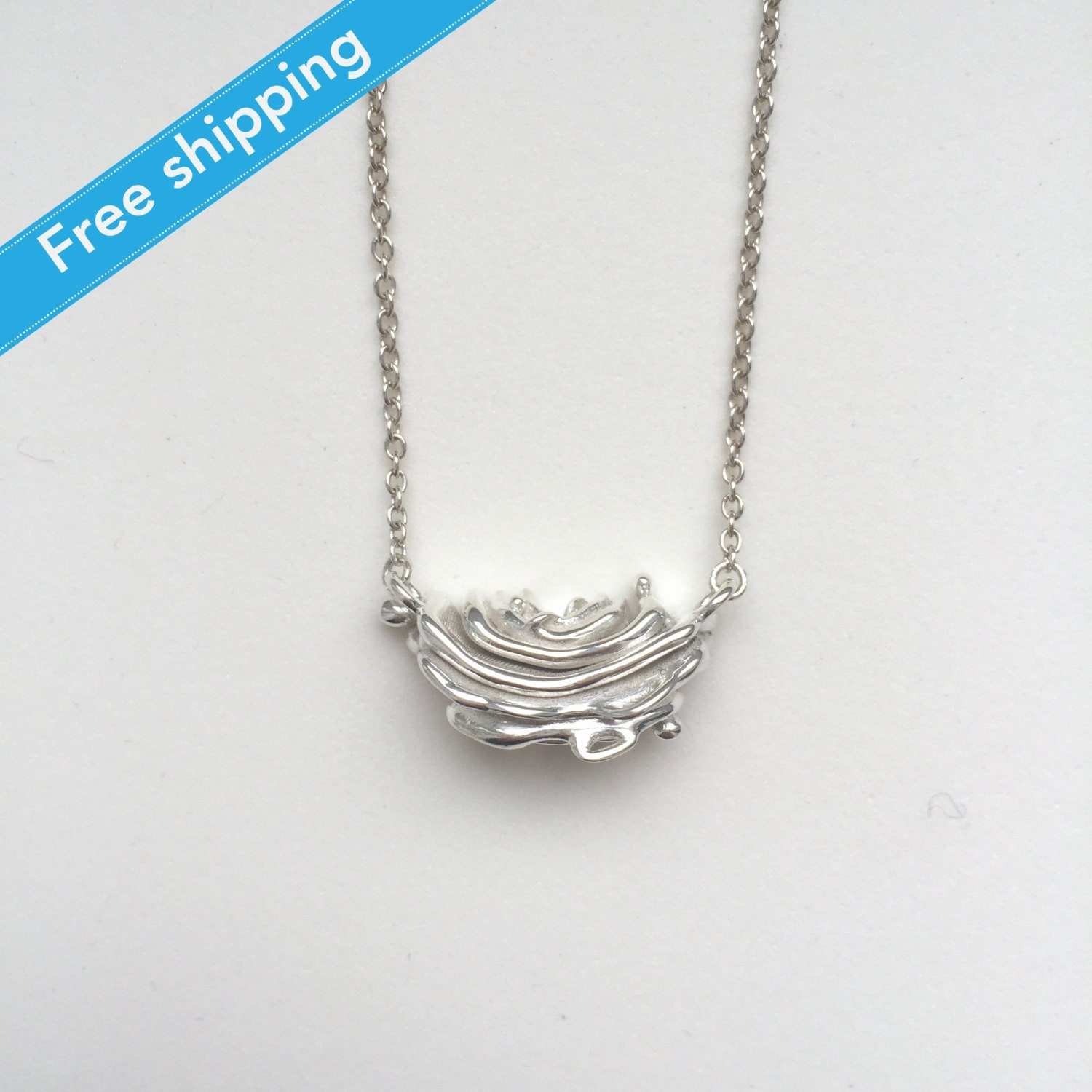 science jewelry silver golgi apparatus necklace by