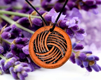 Aromatherapy pendant essential oil perfume necklace Terracotta Clay fragrance diffuser #G8
