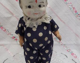 Vintage baby doll clown doll, vintage clown doll