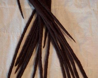 Wool Dreadlocks - Wool Dreads/Double Ended/Wool Hair Extensions