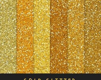 60% OFF Gold Glitter Paper / Golden Glitter / Scrapbooking Printable Paper / Digital  Background / Glitter Overlay / Instant Download
