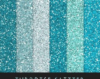 60% OFF Turquoise Glitter Paper / Blue Green Glitter / Scrapbooking Digital Paper / Digital Glitter Background / Glitter Overlay / Instant D