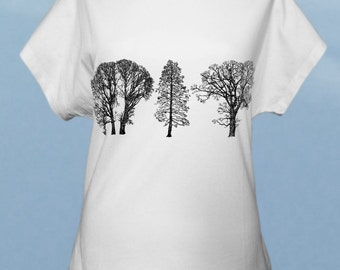 Trees - hand screenprinted women t-shirt